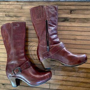 EUC Dansko Crazy Horse Rylan heeled riding boot
